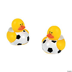 Vinyl Mini Soccer Rubber Duckies