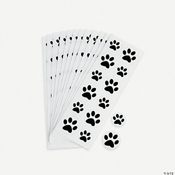 Black Paw Print Stickers