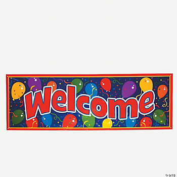 "Giant ""Welcome"" Sign Banner"