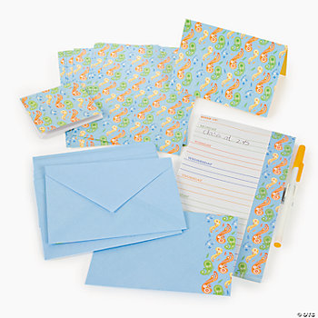 Paisley Stationery Set