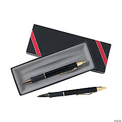Personalized Black Monte Cristo Pen & Pencil Set