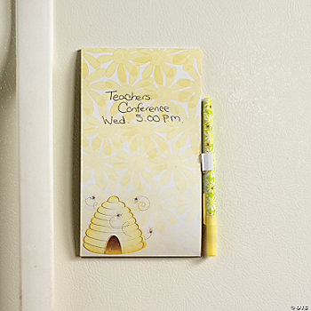 Magnetic Honeybee Notepad & Pen Sets