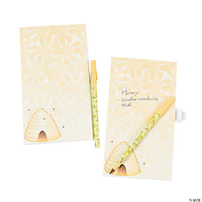 Honeybee Notepad Magnet & Pen Sets