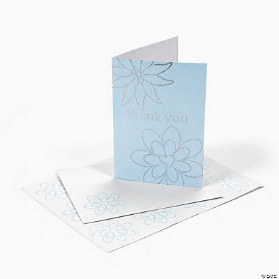 "Silver Foil Wedding ""Thank You"" Cards"