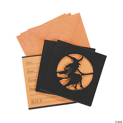 Halloween Silhouette Invitations
