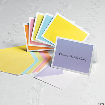 Personalized Pastel Colors Notecards
