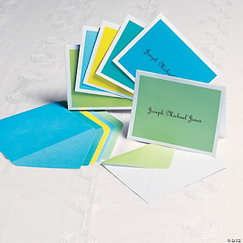 Personalized Cool Colors Notecards