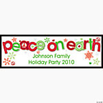 "Personalized ""Peace On Earth"" Banner - Large"