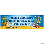 Happy Birthday Jesus Nativity Banner - Medium