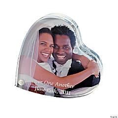 Personalized Heart-Shaped Frameless Photo Holder/Cake Topper