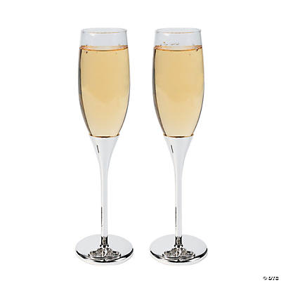 Personalized Floating Crystals Wedding Flutes