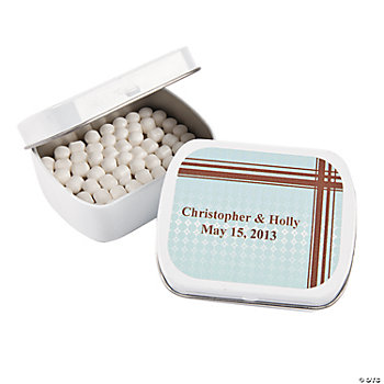 Personalized Contemporary Wedding Mint Tins
