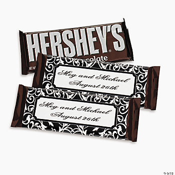 Personalized Classic Black & White Candy Bars