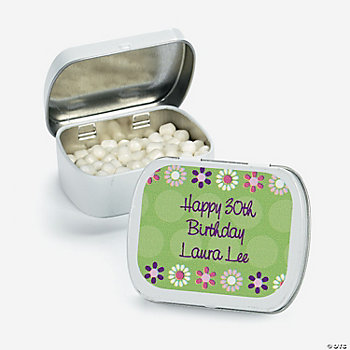 24 Personalized Darling Daisy Mint Tins