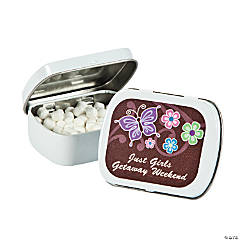 Personalized All Aflutter Brown Mint Tins