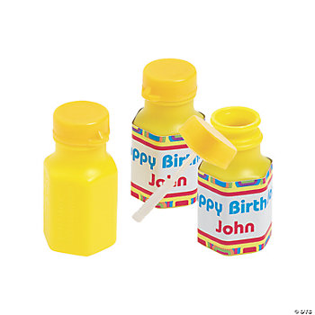 48 Personalized Kaleidoscope Hexagon Bubble Bottles