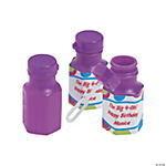 48 Personalized Bubble Bop Hexagon Bubble Bottles
