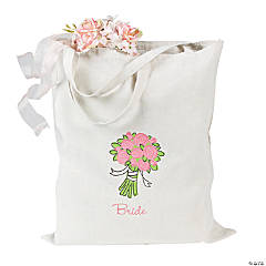 "Rose Bouquet ""Bride"" Tote"