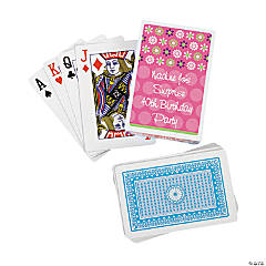12 Personalized Darling Daisy Playing Card Decks