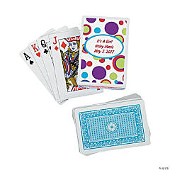 12 Personalized Bubble Bop Playing Card Decks