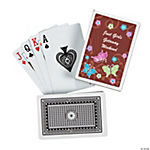 12 Personalized All Aflutter Brown Playing Cards
