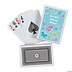 12 Personalized All Aflutter Aqua Playing Cards