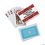 Personalized Red Wild West Playing Cards
