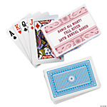 12 Personalized Pink Wild West Playing Card Decks