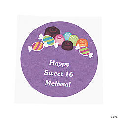 Personalized Sweet Treat Favor Stickers