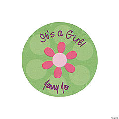 24 Personalized Darling Daisy Favor Stickers