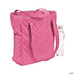 Monogrammed Hot Pink Quilted Tote