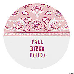 Personalized Pink Wild West Favor Stickers