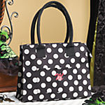 Black & White Polka Dot Tote