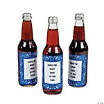 Personalized Blue Wild West Bottle Labels