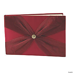 Red on Red Wedding Guest Book
