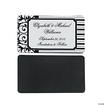 Personalized Classic Black & White Magnets