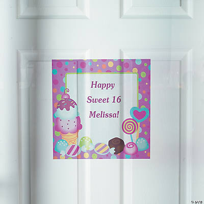 Personalized Sweet Treat Window Cling