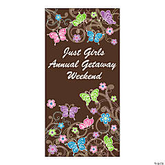 Personalized All Aflutter Brown Door Cover