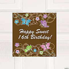 Personalized All Aflutter Brown Window Cling