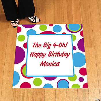 Personalized Bubble Bop Floor Cling