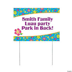 Personalized Island Hibiscus Yard Sign