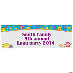 Personalized Island Hibiscus Banner - Small