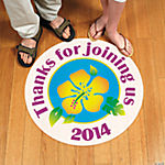 Personalized Island Hibiscus Floor Cling