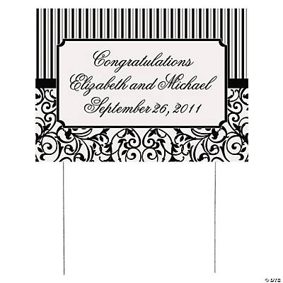 Personalized Classic Black & White Yard Sign