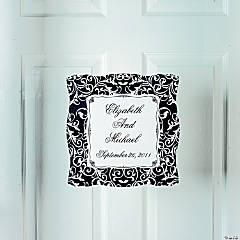 Personalized Classic Black & White Window Cling