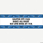 Personalized Blue Wild West Banner - Small