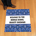 Personalized Blue Wild West Floor Cling