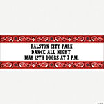 Personalized Red Wild West Banner - Small
