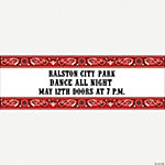 Personalized Red Wild West Banner - Medium