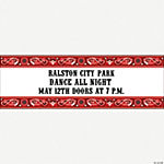 Personalized Red Wild West Banner - Large
